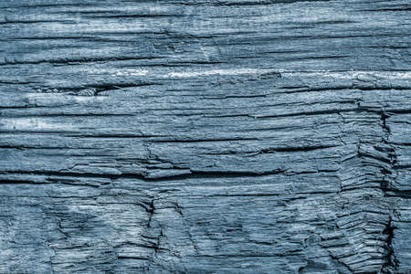 decomposition: Old Knotted Wood Weathered Rotten Cracked Bleached And Stained Powder Blue Grunge Texture Stock Photo