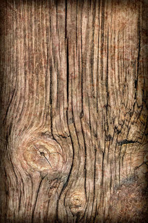 decomposition: Old Knotted Wood Weathered Rotten Cracked Vignetted Grunge Texture Stock Photo