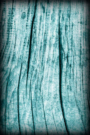 dilapidation: Old Weathered Rotten Cracked Wooden Rustic Floorboard Coarse Monochrome Cyan Vignette Grunge Texture Stock Photo