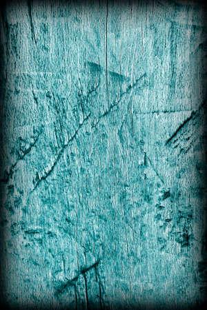 floorboard: Old Weathered Rotten Cracked Wooden Rustic Floorboard Coarse Monochrome Cyan Vignette Grunge Texture Stock Photo