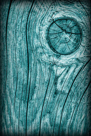 dilapidation: Old Knotted Weathered Rotten Cracked Wooden Rustic Floorboard Coarse Monochrome Cyan Vignette Grunge Texture Stock Photo