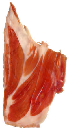 Prosciutto Dry Cured Pork Ham Rasher Isolated On White Background