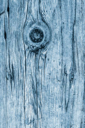 dilapidation: Old Weathered Rotten Cracked Knotted Coarse Wood Powder Blue Grunge Texture Stock Photo