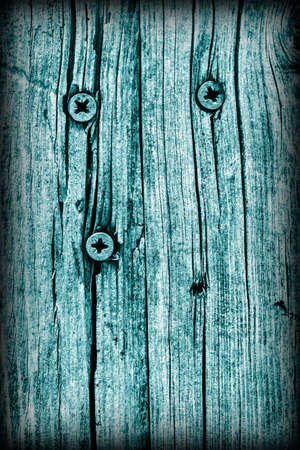 dilapidation: Old Weathered Rotten Cracked Knotted Coarse Wood Cyan Vignetted Grunge Texture
