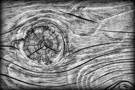 Old Weathered Rotten Cracked Knotted Coarse Wood Gray Vignetted Grunge Texture Stock Photo