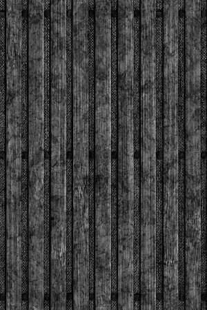 treated: Bamboo Place Mat Bleached and Stained Black Grunge Texture Detail
