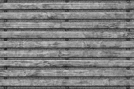 Bamboo Place Mat Bleached and Stained Dark Gray Grunge Texture Detail