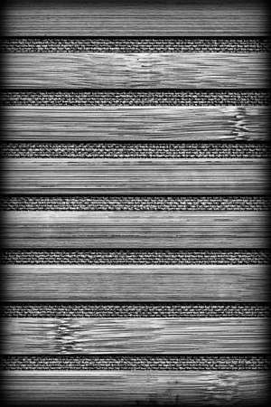 treated: Bamboo Place Mat Bleached and Stained Dark Gray Vignetted Grunge Texture
