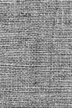 treated: Burlap Dark Gray Coarse Grunge Texture