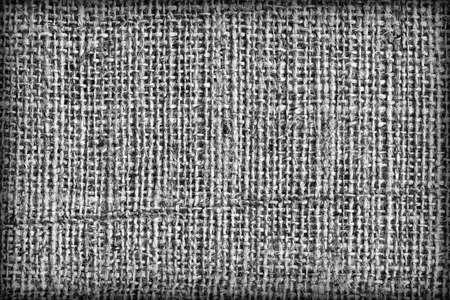 treated: Burlap Dark Gray Coarse Vignetted Grunge Texture