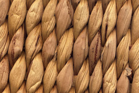 Raffia Place Mat Extra Rough Plaiting Grunge Texture Stock Photo