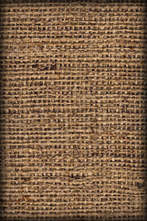 vignetted: Burlap Canvas Natural Brown Coarse Vignetted Grunge Texture