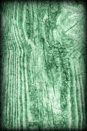 Old Wood Green Vignetted Grunge Texture