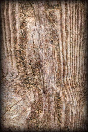 Old Knotted Wood Vignetted Grunge Background Texture