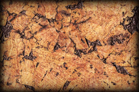 vignetted: Natural Brown Cork Tile Vignetted Grunge Texture Stock Photo