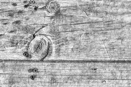 Old Weathered Cracked Knotted Gray Pinewood Plank Grunge Texture