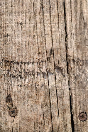 Old Weathered Cracked Knotted Pinewood Plank Grunge Texture Stock Photo