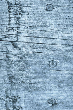 Old Weathered Cracked Knotted Powder Blue Pinewood Plank Grunge Texture Stock Photo
