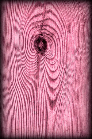 floorboards: Old Knotted Magenta Pine Wood Board Vignetted Grunge Texture Detail Stock Photo