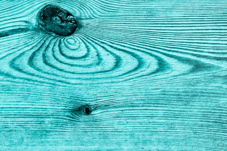 Old Knotted Cyan Pine Wood Board Grunge Texture Detail Stock Photo