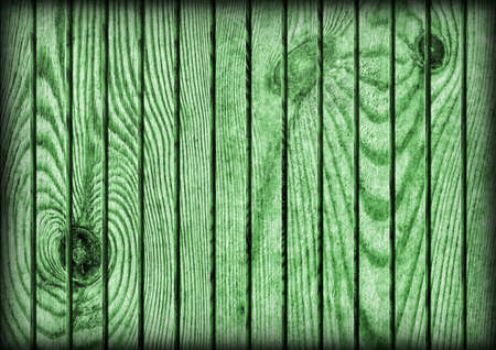 floorboards: Old Weathered Cracked Knotted Kelly Green Pine Wood Flooring Rustic Vignetted Grunge Texture Stock Photo