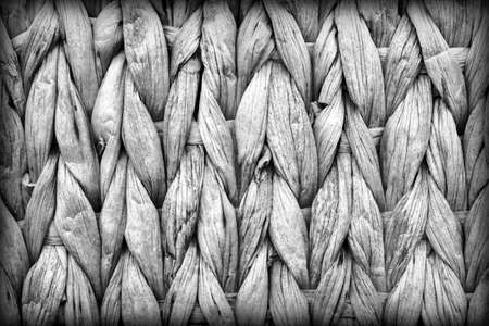 Gray Palm Fiber Place Mat Coarse Plaiting Rustic Vignetted Grunge Texture Detail