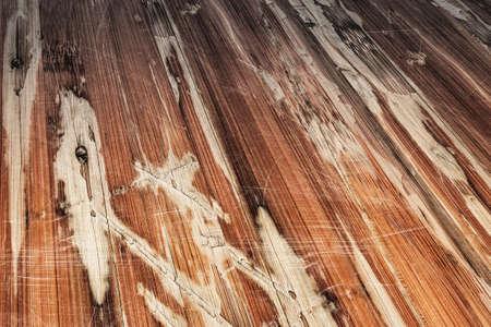 Old Weathered Cracked Flaky Varnished Laminated Flooring Grunge Background