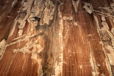 Old Weathered Cracked Flaky Varnished Laminated Flooring Grunge Background