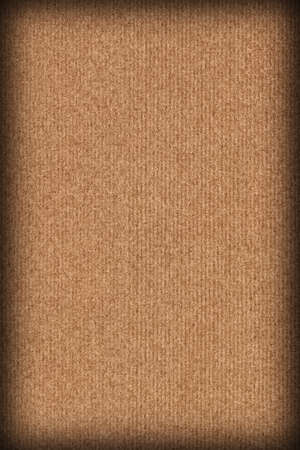 Recycled Manila Striped Brown Kraft Paper Coarse Vignette Grunge Texture
