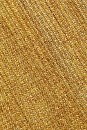 Plaited Natural Ocher Straw Place Mat Mottled Coarse Rustic Grunge Texture