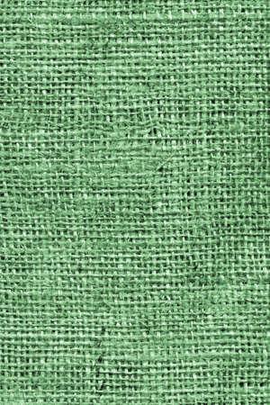 High Resolution Kelly Green Burlap Canvas Coarse Grain Grunge Background Texture Stock Photo