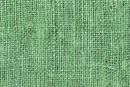 Kelly Green Burlap Canvas Coarse Grain Grunge Background Texture