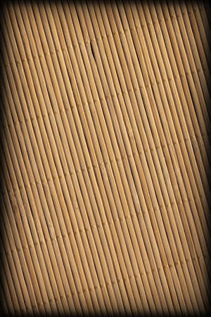 Rustic Coarse Grain Natural Brown Bamboo Place Mat Slatted Interlaced Vignette Grunge Texture