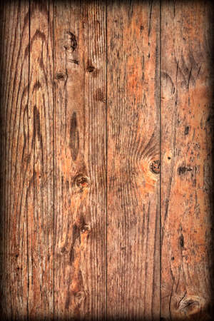 Old Weathered Rotten Cracked Knotted Varnished Pinewood Planks Flaky Vignette Grunge Texture Detail 写真素材