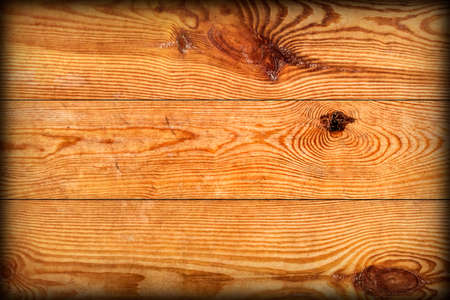 Old Weathered Rotten Cracked Knotted Varnished Pinewood Planks Flaky Vignette Grunge Texture Detail Stock Photo