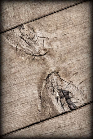 Old Weathered Cracked Knotted Pine Wood Floorboard Vignette Grunge Texture Detail