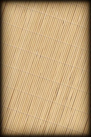 Bamboo Place Mat Rustic Slatted Interlaced Coarse Vignette Texture