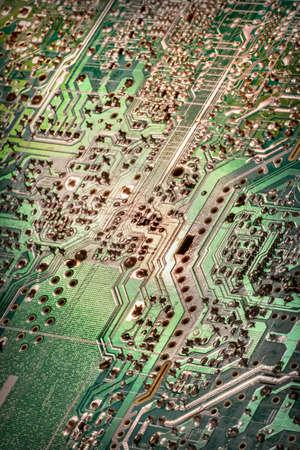 Circuit Board Green Vignette Background