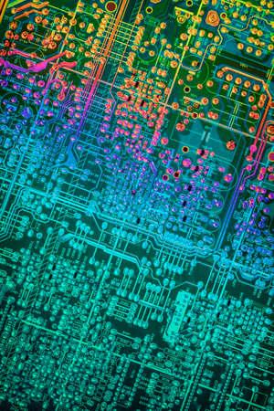 Circuit Board Multicolored Background