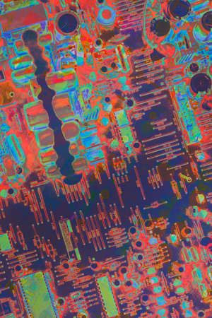 Circuit Board Multicolored Background Banque d'images