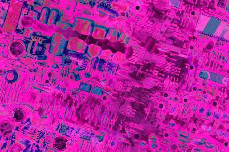 Circuit Board Purple Background