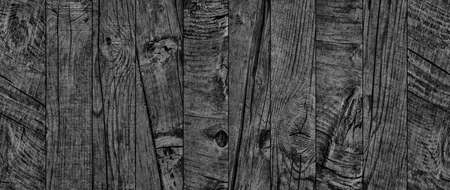 Black Old Weathered Rotten Cracked Knotted Rough Pinewood Floorboard Grunge Surface Texture Detail