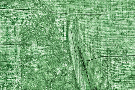 Green Old Weathered Cracked Knotted Pine Wood Floorboards Grunge Texture Detail Stock Photo
