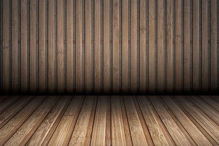 Rustikale Bambuskulisse
