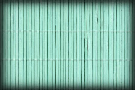 High Resolution Turquoise Bamboo Place Mat Rustic Slatted Interlaced Coarse Vignette Background Texture Reklamní fotografie