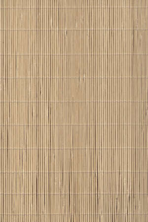 High Resolution Bamboo Place Mat Rustic Slatted Interlaced Coarse Grain Background Texture Stockfoto