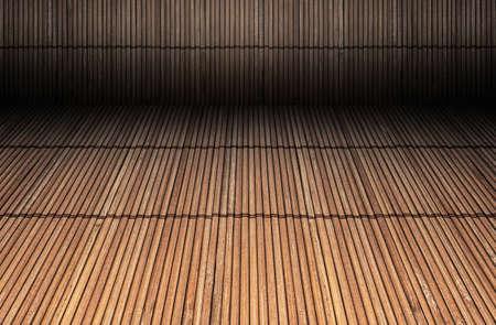 Foto einer rustikalen Bambuskulisse Standard-Bild