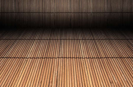 Photograph of rustic Bamboo backdrop stage Standard-Bild