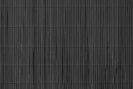 High Resolution Charcoal Black Bamboo Place Mat Rustic Slatted Interlaced Coarse Background Texture