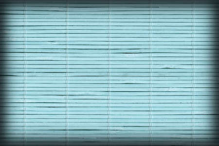 High Resolution Pale Blue Bamboo Place Mat Rustic Slatted Interlaced Coarse Vignette Background Texture